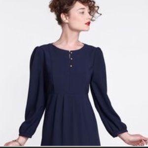 Anthropologie Karen Walker navy midi dress